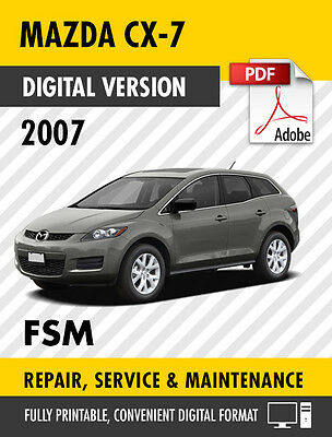 Service & Repair Manuals Motors mediatime.sn MAZDA CX-7 CX7 2007 ...
