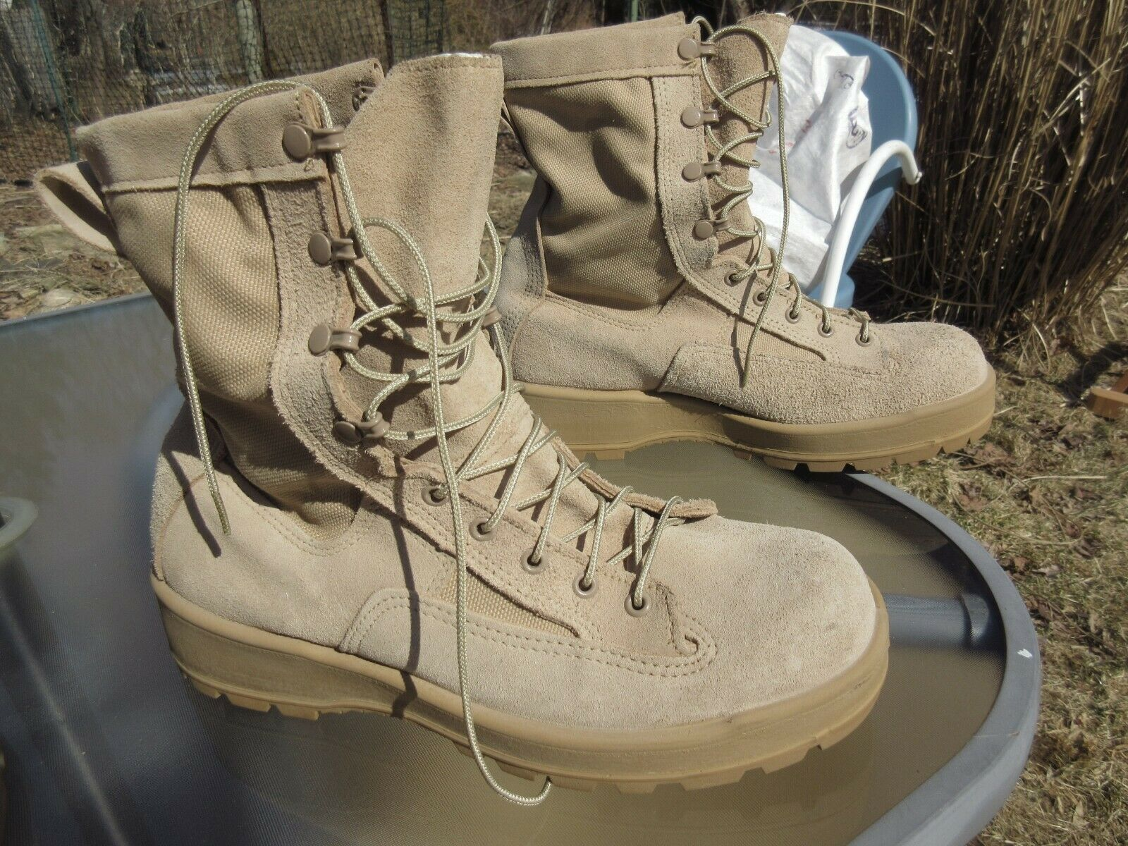 Wellco Leather and Nylon Combat Boots Soft Toe / Waterproof / 10.0 W / Pre-owned