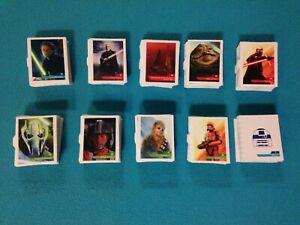 Cartes vignettes Star Wars Leclerc 2019 stickers autocollants