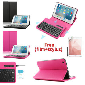 Boriyuan Smart Case + Detachable Bluetooth Keyboard For iPad Mini 1/2/3