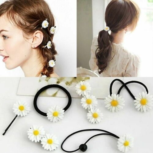 Accessories Headwear Bobby Pins Barrettes Mini Daisy Hair Clip Elastic Rope