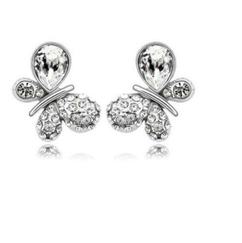 18KT Platinum Fashion Temperament Women Lovely Bride Small Stud Earrings ED93