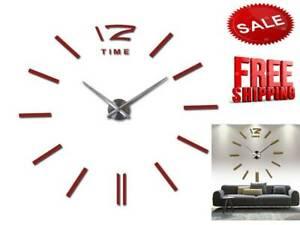 sale-wall-clock-watch-clocks-3d-diy-acrylic-mirror-stickers-Living-Room-Quartz