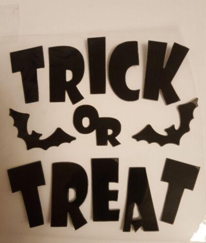Nouvelle Ruse Ou Traiter Halloween Iron On Transfert avec les chauves-souris peuvent faire d/'autres couleurs