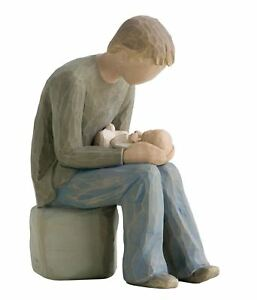 Willow-Tree-New-Dad-Resin-Figurine-Father-Keepsake-New-Baby-Ornament-Gift-Box