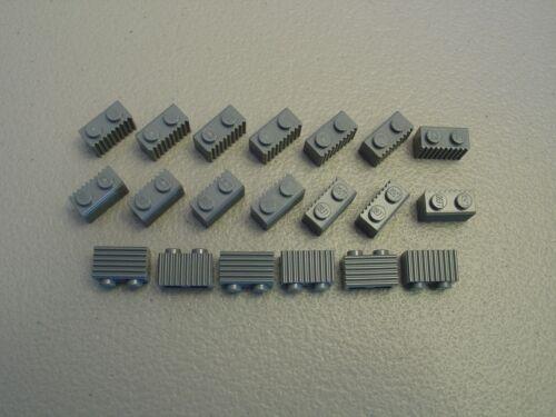 LEGO NEW Dark Bluish Gray Brick Modified 1x2 Grill Lot x20 Star Wars Parts 2877