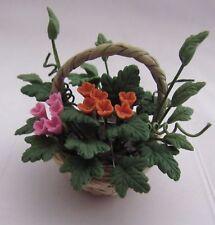 Dollhouse Miniature 1:12 Floral Cornucopia Arrangement by Bright deLights