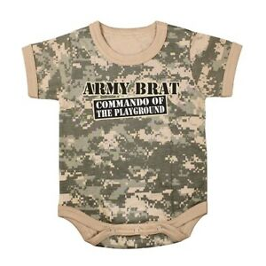 1pc Infant Bodysuit - Army Brat - Commando of The Playground | CAMO | BABY