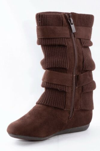 Girls Toddlers /& Youth brown Faux Suede boots size 12-13