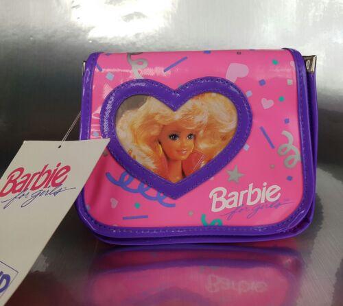 NOS Vintage 1991 Mattel Small Pink RECTANGULAR Barbie Purse ravers handbag bag