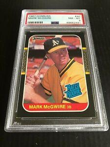 1987-DONRUSS-46-MARK-McGWIRE-RATED-ROOKIE-ATHLETICS-PSA-8-CARDINALS-NM-MT