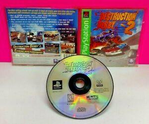 Destruction Derby 2 - Playstation 1 2 PS1 PS2 Game Complete Tested Works Rare -