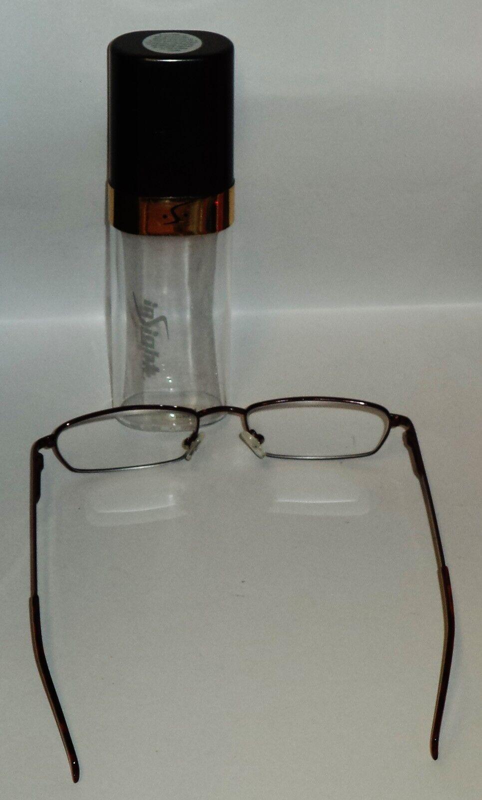 9d6dff3d27 Insight gafas de lectura con estilo Rubí metal monturas & uso Fácil ...