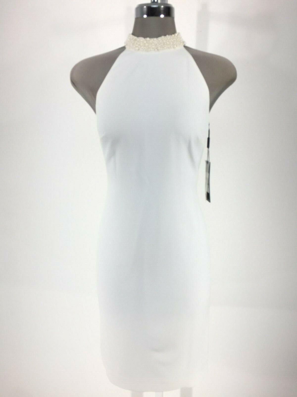 Karl Lagerfeld Neu Eleganz @ Its Best Elfenbein Pearl-Bead Etuikleid 0,2,4,8