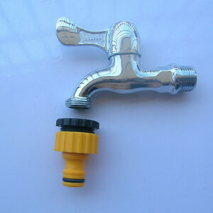 """2X 1/2""""& 3/4"""" Plastic Garden Hose Water Pipe Connector Tube Fitting Tap Adapter"""