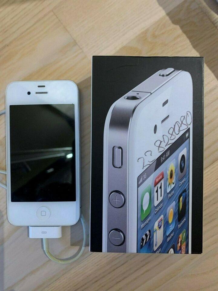 iPhone 4, 8 GB, hvid