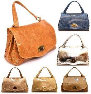 HAND BAG 07 Borsa Mano Tracolla Manici Bauletto Donna Postino ... 230393b795f