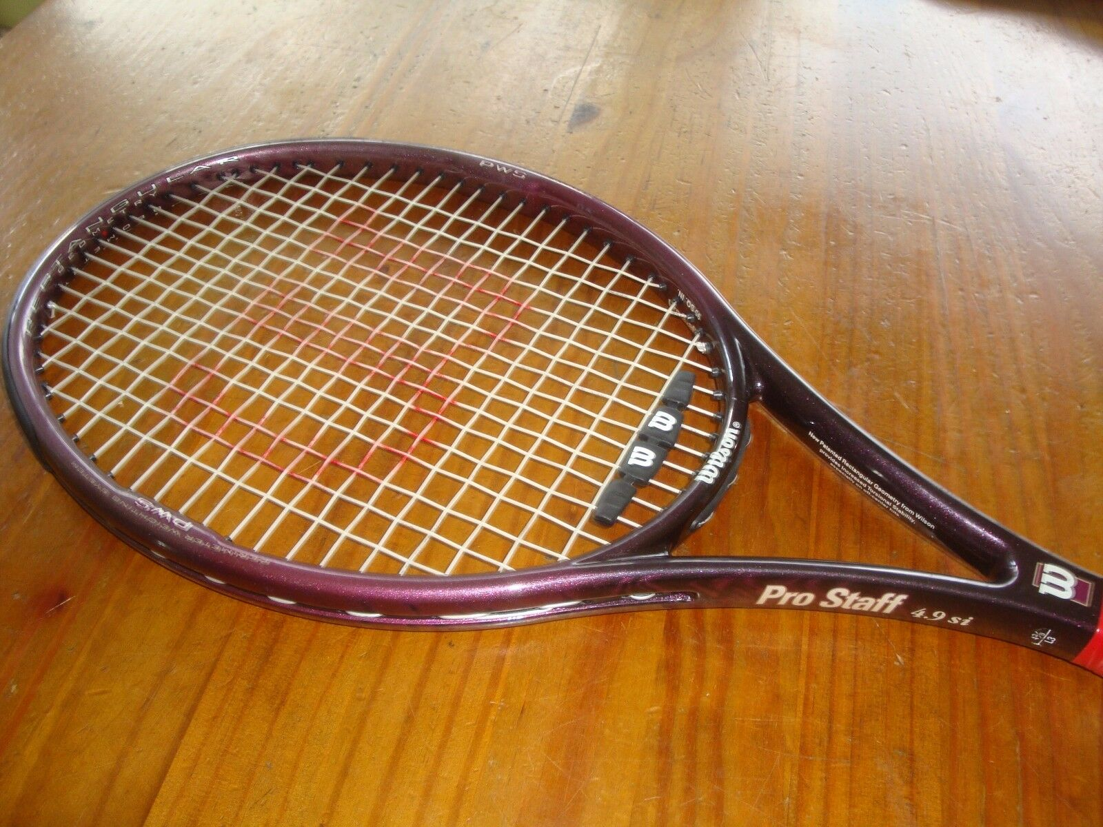 Wilson Pro Staff 4.9 si  PWS 95 sq in Tennis Racquet 4 3 8   EXCELLENT
