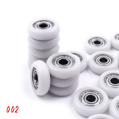 10pcs Nylon Metal Shield Pulley Wheels Roller Ball Bearings 695ZZ 5x18x5mm