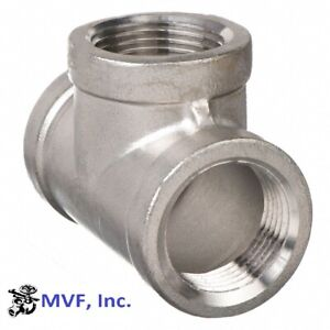 "2-1/2"" 150 Female NPT Pipe Tee Cast 304 Stainless Steel Fitting <SS031041304"