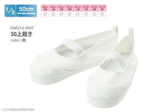 Azone-50cm-Outfits-Indoor-Shoes-White-fit-Obitsu-48-50cm-body-AZO2