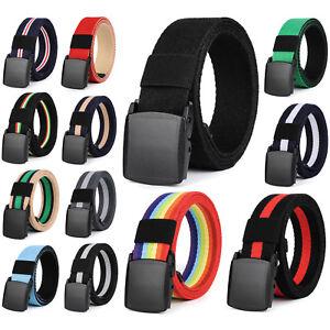 Nylon-Webbed-Belt-Casual-Unisex-Belt-Plastic-Buckle-No-Metal-Parts