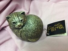 WINDSTONE EDITIONS CAT FIGURINE by M PENA NORTH HOLLYWOOD ARTIST PUFFIN KITTY