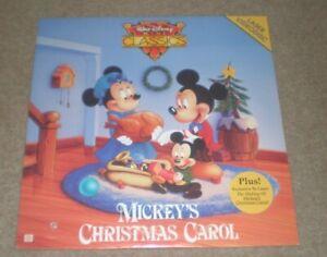 MICKEY'S CHRISTMAS CAROL LASERDISC DISNEY & Plus Making Of SEALED NEW | eBay