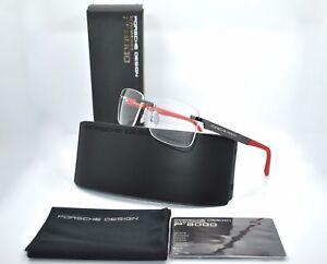 RARE NEW Genuine PORSCHE DESIGN Black Gold Eyeglasses Frame Glasses P 8236 S1 B