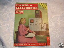 Radio Electronics  Electronics Vacuum Tube Vintage Magazine Oct  1948