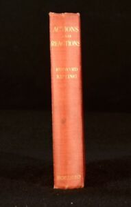 1909-Rudyard-Kipling-Actions-Reactions-India-Rajj-Laureate-Empire-First-Edition