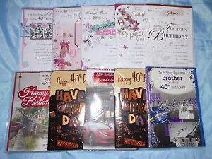 Image Is Loading 40TH BIRTHDAY CARD WIFE HUSBAND BROTHER SISTER MUM