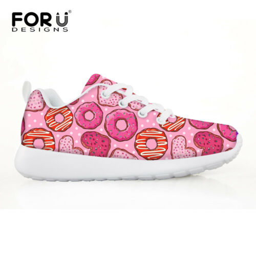 Donuts Print Outdoor Sport Shoes Kids Mesh Sneakers Child Running Shoes 29-34