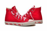 CONVERSE Chuck Taylor All Star Hi Top Shoes Kids Canvas Red Dino Diplodocus
