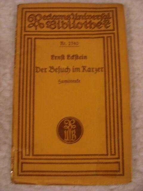 """Ernst Eckstein """"Der Besuch im Karzer"""" Reclam`s Universalbibliothek Nr. 2340"""