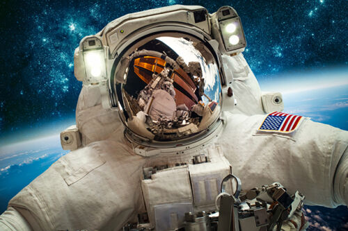 Astronaut Selfie Space Earth Photo Window Roller Blind Cordless Remote Blackout