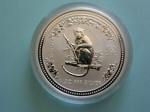 Australien-1oz-Lunar-I-Affe-2004-Silber-BU