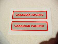 MARX CANADIAN PACIFIC TENDER DECAL SILVER & RED EXCELLENT QUALITY LOOK AT PHOTOS