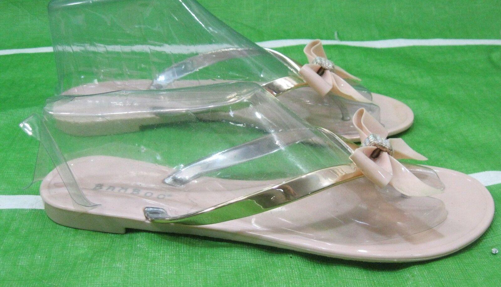 new Womens skintone Summer Beach Jellies  flip flap Flat Jellies Beach Jelly Sandal Size 5 54bc67