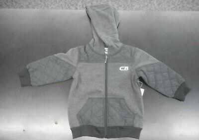 4T Toddler Boys $34 CB Sports Dark Grey Hooded Jacket Sizes 2T
