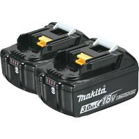 2-Pack Makita BL1830B-2 18V LXT Lithium Ion 3.0Ah Battery