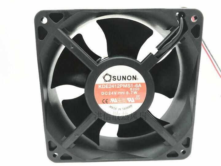 1PC SUNON 12038 KDE2412PMS1-6A DC24V 6.7W inverter cooling fan