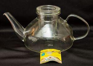 jenaer saale glas feuerfest teekanne east germany 1 5l glass teapot mid century ebay. Black Bedroom Furniture Sets. Home Design Ideas