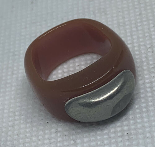 Vintage hand wired acrylic prison style ring
