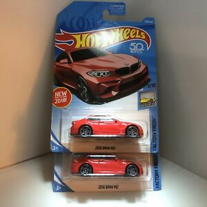 TWO-NEW-2018-Hot-Wheels-254-Factory-Fresh-3-10-2016-BMW-M2-RED