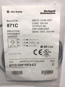 Allen Bradley Rockwell 871C-DM1NP3-E2 PNP 0.6mm Inductive Proximity Sensor