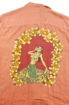 TOMMY BAHAMA Men/'s T-shirt Island Theme Luau Hawaiian Girls Hula Dancers
