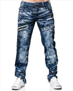 KOSMO-LUPO-Herren-Jeans-Hose-ZIPPER-Denim-Japan-Style-NEU-KM051