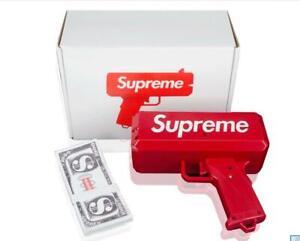 Supreme-Gun-launcher-Make-It-Rain-Gun-Red-Fashion-Toy-Party-Box-100-Cash