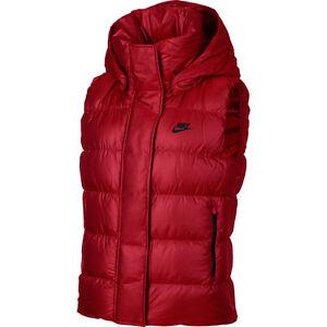 07232022d900 Nike WMNS NSW Down Fill Vest 809549-657 women NEW dark red black